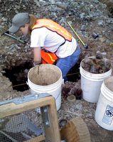 M digging in a 1x.75 m unit